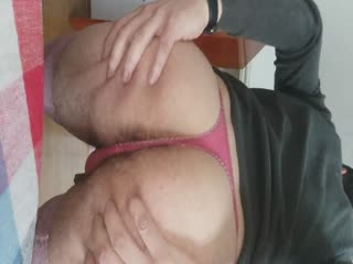 Super Hairy Ass Crossdresser