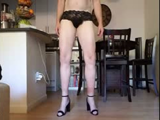 Black Panties Thigh Highs Heels