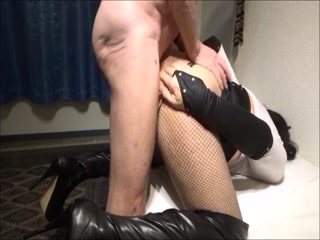 Filthy Amateur CD Gets  Anal Hole Filled With Cum