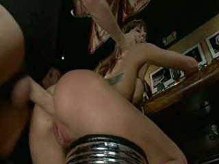 Public Disgrace: Gia DiMarco Gets Double Penetrated At A Public Bar