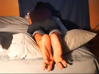 Gorgeous Teen With Super Sexy Soles And Feet Caught In Bed
