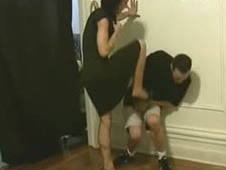 Black Dress Ballbusting
