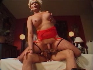 Blonde Shemale Can't Stop Fucking