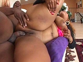 BBW ebony Envy gets her pussy fucked hard by big black cock