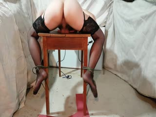 trv16 Crossdresser Bondage - Table Trying