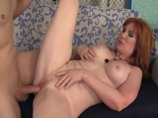 Redheaded Mature Freya Gets Penetrated Hard