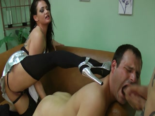 Pervert Mistress Gives To Her Slaves Wild Ball Busting