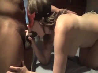 Chubby Masked Brunette Milf Has A Black Bull Banging Her Cunt Doggystyle