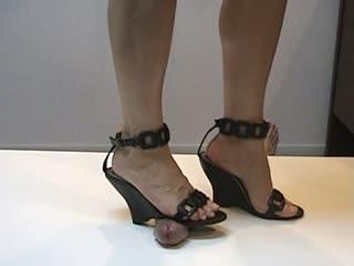 Noir Sandales Compensées Shoejob