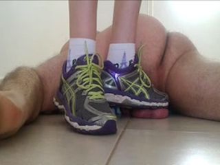 Trampling Balls With Running Shoes