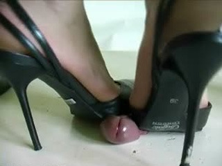 2 Girls In Heels Trample Cock