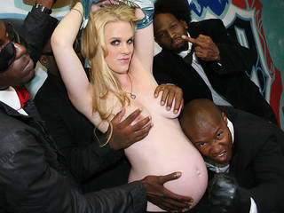 Pregnant Hydii May Gangbanged By Big Black Cocks