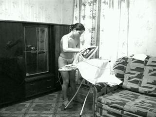 Naked Julia Ironing