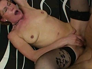 Horny Granny Gets Banged By A Young Guy