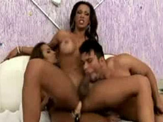 Dude Tranny And A Babe Group Ass Fuck