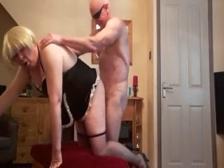Older Bald Man Fucks His Dirty Slut
