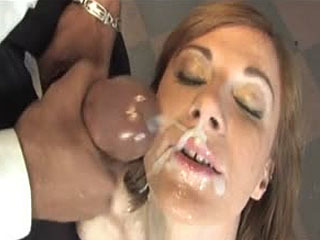 Allison Wyte gets her face covered with cum