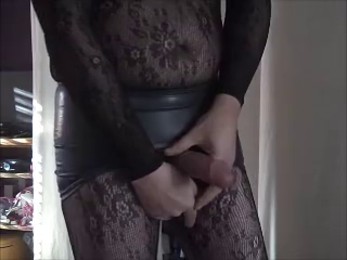 Bodystocking And Latex Skirt Part 1