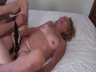 Horny Granny Gets Her Cunt  Rammed Deep And Hard